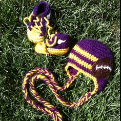 Baby Vikings hat and tennis shoes