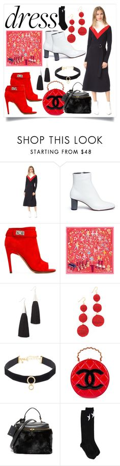 """""""Vivien Dress..**"""" by yagna ❤ liked on Polyvore featuring Tory Burch, Gray Matters, Givenchy, Karen Mabon, Eddie Borgo, Kenneth Jay Lane, Rebecca Minkoff, Chanel, Vasic and vintage"""