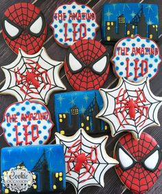 """141 Likes, 8 Comments - Anna Parnell (@cookieoccasions_) on Instagram: """"Spiderman! #spidermancookies #sugarcookies #customcookies #decoratedcookies #cookieoccasions"""""""
