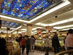 HARRODS - LONDON' Love this food court beyond all food courts.