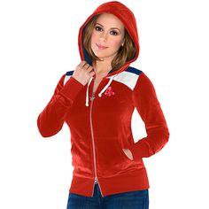 Boston Red Sox Women's Velour Comeback Full-Zip Sweatshirt touch™ by alyssa milano - MLB.com Shop