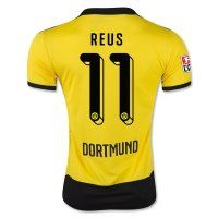 Borussia Dortmund 2015-2016 Season REUS #11 Home Soccer Jersey