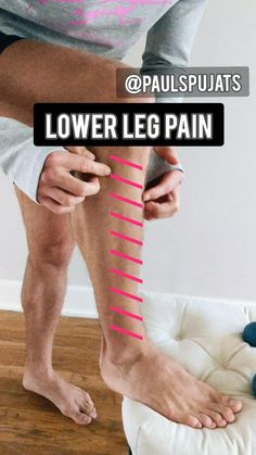 Lower Leg Pain, Knee Pain Exercises, Hand Exercises For Arthritis, Mindful Yoga, Physical Therapy Exercises, Trigger Points, Trigger Point Therapy, Knee Pain Relief, Kinesiology Taping
