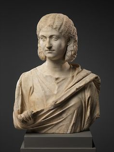 Marble bust of a woman Period: Late Imperial Date: mid–3rd century A.D. Culture: Roman Medium: Marble.