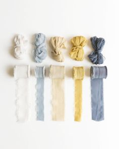 Tono + co Classic Silk Ribbon in favorites from our Natural + Golden + Marine collections. Lovingly hand-dyed in Santa Ana, California and available in 24 signature colors. Check out our website for more color, styling, and bridal inspiration. Colour Pallete, Colour Schemes, Color Combos, Sea Colour, Honey Colour, Pantone, Marine Colors, Colour Board, Color Swatches