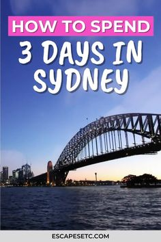 Planning on spending 3 days in Sydney Australia? This 3 day Sydney itinerary will help you plan the best things to do in Sydney on a budget including where to stay in Sydney, how to use Sydney Public Transport and cheap places to eat and drink in Sydney. You'll have the perfect weekend in Sydney! #sydneyaustralia #weekendinsydney #sydneyitinerary #bestofsydney #visitsydney Europe On A Budget, Packing For Europe, Budget Travel, Travel Guides, Travel Tips, Visit Sydney, Australia Travel Guide, Sydney Restaurants, New Zealand Travel