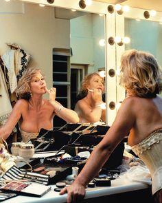 Helen Mirren in her dressing room.
