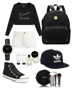 """ELIZABETH SANTOS"" by elisants ❤ liked on Polyvore featuring Ash, NIKE, Yves Saint Laurent, adidas, Chanel, Bobbi Brown Cosmetics and ROSEFIELD"