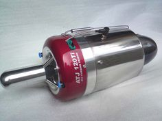 ATJ 120 turbine  ATJ 120Ti Specs: Dimensions: Outer Diameter 110mm; Length: 295mm Weight: 1550grams (including starter) Nominal thrust @ 150C: 12.5KG @ 122,000rpm Idle RPM: 33,000 Idle thrust @ 33,000: 0.6KG EGT: 580-7500C Fuel Consumption: @ max rpm 390gms/min Fuel/ oil: Jet -A1 or Kerosene + 5% oil (synthetic turbine engine oil)
