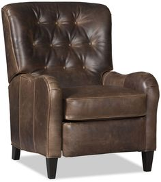 Button tufted leather recliner.  Handmade in USA!