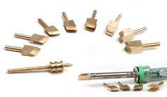 Electric leather tools copper Edge Creaser - edge scriber - edge polisher - hot…