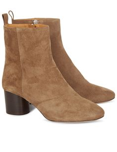 Light Brown Suede Deyissa Ankle Boots