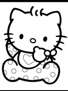 Hello Kitty Printable Coloring Pages Coloring Pages To Print, Printable Coloring Pages, Hello Kitty Colouring Pages, Hello Kitty Baby, Baby Quilts, Quilt Blocks, Prints, Pictures, Fictional Characters