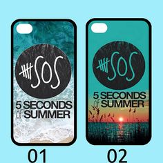 seconds of summer 5 sos blue sea sandy beach sunset case for iphone 4 4s 5 5s 5c galaxy s3 s4 s5