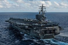 The U.S. Navy's only forward-deployed aircraft carrier USS Ronald Reagan (CVN 76) transits the Philippine Sea.