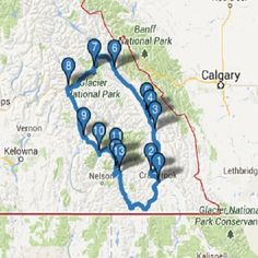 Hot Springs Circle Route to visit all the hot springs in the BC interior, canada