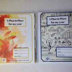 High School Edition planners from A Plan in Place