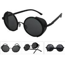4591d9300489a Óculos De Sol Redondos Blinder Retrô Vintage Lennon Ozzy Óculos Steampunk