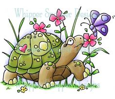 Turtle & Friend--Spring/Summer 2013 Rubber Stamp Collection