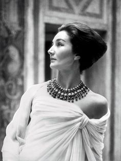 Jacqueline de Ribes in Christian Dior, 1959 Photograph by Roloff Beny, Roloff Beny Estate