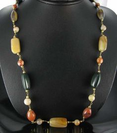 Vintage Chunky Gemstone Necklace from Ruby Lane $20