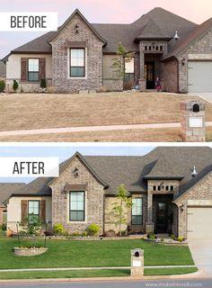 40 Front Yard Side Yard and Backyard Landscaping Ideas Landscape Design Plans, Landscape Edging, House Landscape, Texas Landscaping, Front House Landscaping, Landscaping Design, Garden Landscaping, Landscaping Software, Yard Design