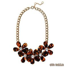 Flowers in Bloom - Our Tortoise Shell color Necklace - Get the matching Bracelet too    #Jewelry