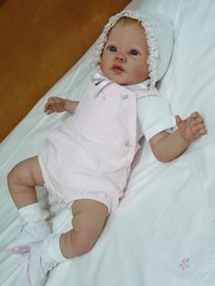 life like baby doll created by Birds Nest Nursery using a Rainer sculpt by Romie Strydom