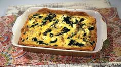 Chew fan Noreen Palinkas' Spanakopita Quiche is a new favorite!  ingredients SPANAKOPITA QUICHE 1 pound ground chicken 12 ounces fresh baby spinach (roughly chopped) 6 eggs 1/4 cup mascarpone 1/4 teaspoon red pepper flakes (optional) 8 ounces feta (cut into cubes) 1 store-bought pie crust Kosher salt and freshly ground black pepper