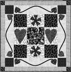 """= free pattern = Night and Day quilt, 32 x 32"""", by Lori Hein for Clothworks Textiles (PDF download) 