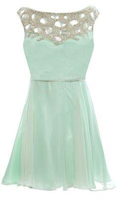 Mint elegant cocktail dress