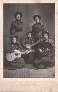 FIVE SALVATION ARMY WOMEN AND THREE GUITARS IN MORRIS RUN, PENNSYLVANIA