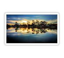 Sunset Reflections at Lake Neangar - Eaglehawk, Victoria Sticker