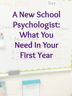 """A while back I shared my Advice for the New School Psychologist. Getting and starting your first job as a """"real"""" school psych is as exciting as it is nerve-wracking. Psychology Resources, Psychology Careers, Psychology Programs, Psychology Student, Educational Psychology, Counseling Psychology, Psychology Tattoo, Psychology Posters, Psychology Humor"""