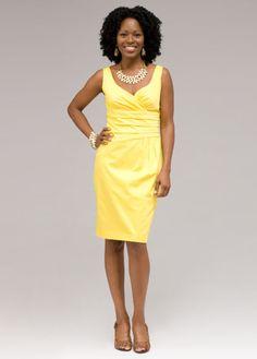 Light yellow dresses women