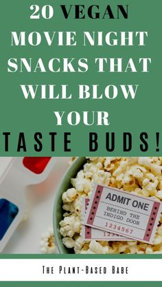 Don't want popcorn for your movie night? These plant-based vegan snacks are great for date night, movie night or game night. Healthy Movie Snacks, Healthy Treats, Healthy Habits, Game Night Snacks, Vegan Dating, Vegan Appetizers, Vegetarian Breakfast, Weight Loss Snacks, Delicious Vegan Recipes