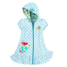 9c35a03227 Disney Ariel Swim Cover Up for Girls Size 56 White      AMAZON BEST BUY