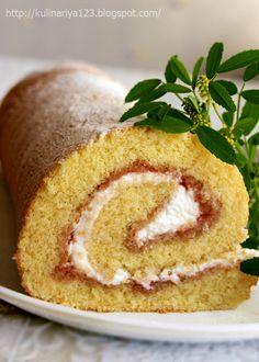 420. Рулет или рецепт очень удачного бисквита, никакая пропитка не нужна - вкусно, мягко, пышно....