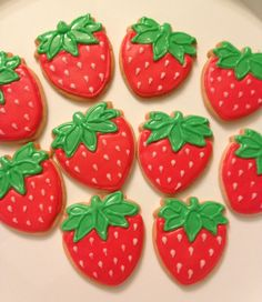 Strawberry flavored butter cookies