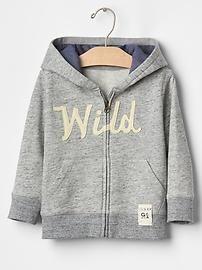 Wild marl zip hoodie
