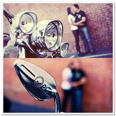 Harley Davidson Engagement Session