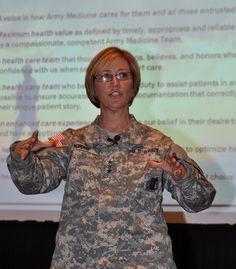Lt. Gen. Patricia Horoho addresses precommand course 10 Jan 2013 San Antonio