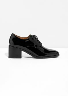& Other Stories image 1 of Glossy Patent Leather Dressed Shoes in Black