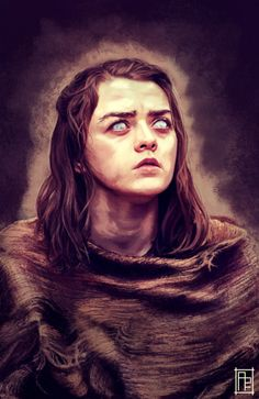Maisie Williams - Game of Thrones No one/ Arya Stark Tatuagem Game Of Thrones, Dessin Game Of Thrones, Game Of Thrones Artwork, Game Of Thrones Arya, Arya Stark Art, Game Of Thones, The North Remembers, Iron Throne, Winter Is Here