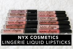 beautybitten   a personal style & beauty blog : NYX Cosmetics Lingerie Liquid Lipsticks (Review & Swatches)