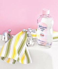 Apply a dab of baby oil to a cotton cloth and use it to shine everything from faucets to hubcaps.