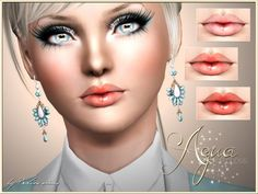 Aqua Lip Gloss by Pralinesims at The Sims Resource - Sims 3 Finds