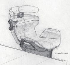 Really nice seat sketch By / S. Car Interior Sketch, Car Interior Design, Interior Design Sketches, Industrial Design Sketch, Car Design Sketch, Interior Concept, Automotive Design, Car Sketch, Techno