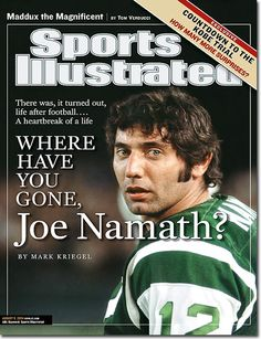 On the Cover: Joe Namath, Football, New York Jets Photographed by: Carl Iwasaki / For Sports Illustrated New York Jets Football, Alabama Football, Nfl Football, American Football, Where Have You Gone, Si Cover, Sports Illustrated Covers, Joe Namath, Legends Football