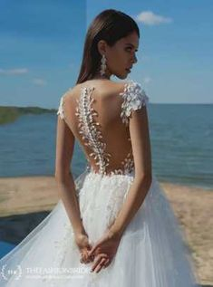 Strekoza 2020 Spring Bridal Collection – The FashionBrides Wedding Dresses With Flowers, Rustic Wedding Dresses, Custom Wedding Dress, Lace Weddings, Boho Wedding Dress, Flower Dresses, Wedding Gowns, Lace Bolero, Queen